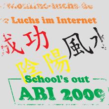 Abi 2016 Aufkleber - Chinesische Schriftzeichen - Folienschriften - Aufkleber für Schaufenster, Auto und Werbung