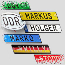 Individuell mit LEDs beleuchtete Namensschilder für LKW-Fahrer