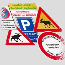 Verkehrsschilder, Verkehrszeichen, Hinweisschilder, Richtungspfeile - individuell nach Kundenvorgaben gefertigt